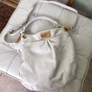 White Marc Jacobs crossbody and handbag